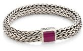 John Hardy Batu Classic Chain Medium Ruby & Sterling Silver Bracelet