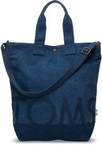 Toms Navy Canvas Compass Tote Bag
