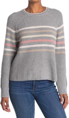 Splendid Striped Waffle Knit Raglan Sweater