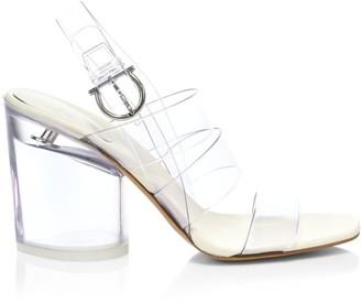 Salvatore Ferragamo PVC Slingback Sandals