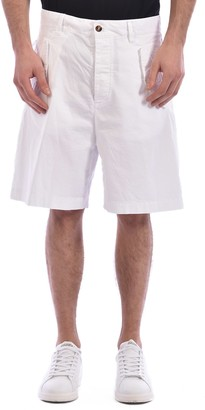 DSQUARED2 White Cotton Bermuda