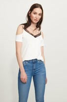 Dynamite Cold Shoulder Top with Lace