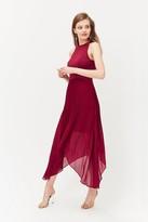 Coast Dip Hem Pleated Skirt Dress