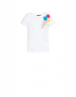 Love Moschino T-shirt Ice Cream Woman White Size 38 It - (4 Us)