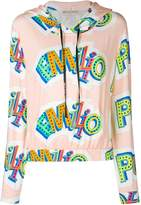 Emilio Pucci logo print cropped sweatshirt