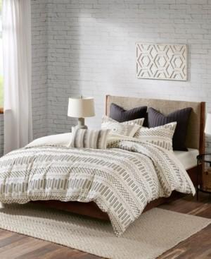 INK+IVY Rhea King/Cal King 3-Piece Cotton Jacquard Comforter Mini Set Bedding