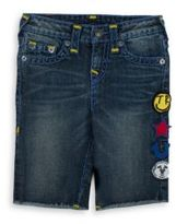 True Religion Boy's Geno Embroidered Patchwork Shorts