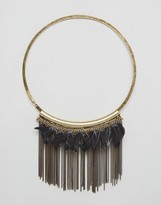 NY:LON Statement Feather Necklace