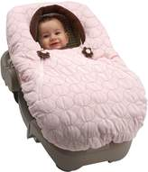 NoJo Double Zipper Baby Cover-Up - Pink Velboa with Flower Pull (Discontinued by Manufacturer) by