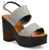 Robert Clergerie Emple Snake-Print Leather Platform Slingback Sandals