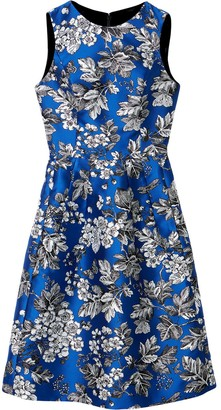Carolina Herrera Floral-Print Knee-Length Dress