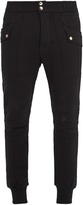 Balmain Contrast-panel cotton track pants