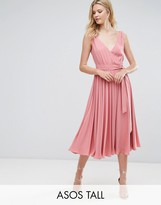 Asos Tall Wedding Bow Front Midi Dress