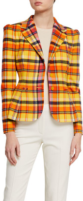 Ralph Lauren Eloise Plaid Blazer Jacket