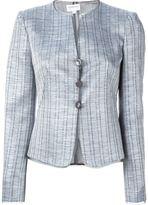 Armani Collezioni metallic sheen fitted jacket