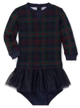 Ralph Lauren Childrenswear Baby Girl's Two-Piece Printed Tulle-Terry Dress Bloomers Set