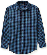 Roundtree & Yorke Silky Finish Long Sleeve Check Woven Shirt