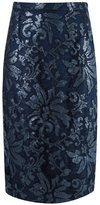 Gloria Coelho - lace midi skirt - women - Polyester/Acetate - 36