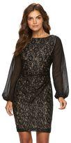 Chaps Women's Lace Sequin Sheath Evening Dress