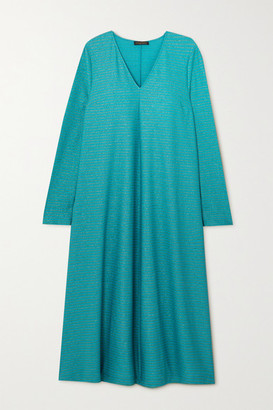 Stine Goya Lauren Glittered Jersey Midi Dress - Turquoise