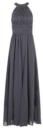 Dorothy Perkins Womens *Jolie Moi Dark Grey Lace Maxi Dress, Dark Grey