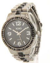 XOXO Women's Black Rhinestone Accented Face Bracelet Watch Xo5240