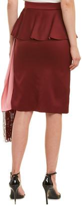 Alexander McQueen Pleated Layered Midi Silk Skirt