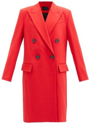 Proenza Schouler Double-breasted Twill Coat - Red