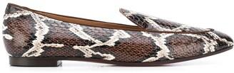 Aquazzura Snakeskin-Effect Loafers