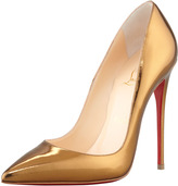 So Kate Mirrored Leather Red Sole Pump, Bronze