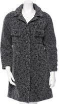 Chanel Patterned Knee-Length Coat