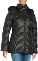 Laundry by Shelli Segal Faux Fur-Trimmed Down Coat