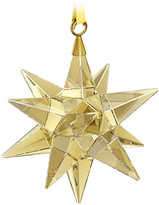 Swarovski Star Ornament, Gold Tone