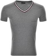 Giorgio Armani Emporio V Neck T Shirt Grey