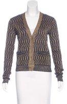 Dries Van Noten Metallic Knit Cardigan