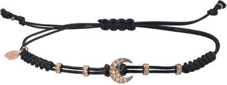 Pippo Perez 18k Pink Gold Diamond Crescent Pull-Cord Bracelet