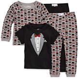 BUNZ KIDZ Little Man 4 PC Cotton Pajama Set - Preschool Boys
