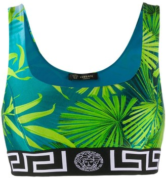 Versace Jungle Print Sports Bra
