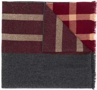 Brunello Cucinelli half check scarf