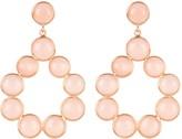 Latelita Hatun Gemstone Statement Earrings Rose Gold Rose Quartz