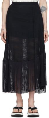 Rokh Navy Tassel Utility Skirt