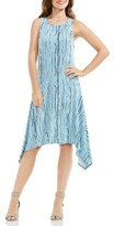 Vince Camuto Women's Electric Lines Handkerchief Hem Dress