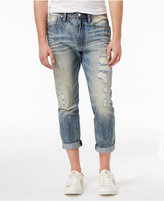 GUESS Men's Slim-Tapered Fit Stretch Destroyed Carpenter Jeans