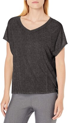 Calvin Klein Women's ICY Wash Split Back Seamed Tee