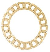 Rachel Zoe Gold Leather Link Collar Necklace