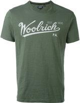 Woolrich logo print T-shirt - men - Cotton - M
