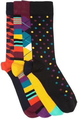 Happy Socks Filled Optic Crew Socks Gift Box - Pack of 4