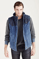 True Religion Mens Reversible Puffer Vest