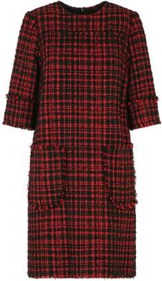 Dolce & Gabbana short tweed A-line dress