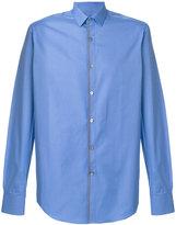 Lanvin contrast trim shirt - men - Cotton/Polyester - 42